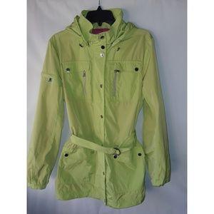 Kristen Blake Rain Jacket Green Large Like New